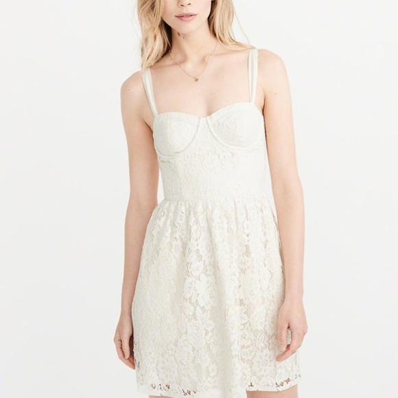 Af White Lace Corset Dress